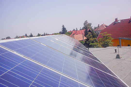 Installation of a photovoltaic system in Dunaharaszti