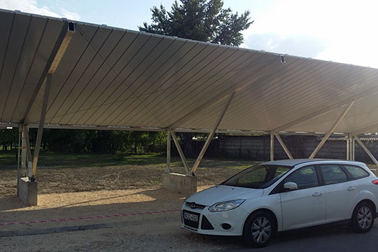 Construction of a parking lot serviced by a photovoltaic system – 49.5 kW